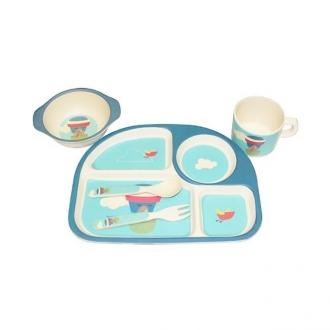 Bộ đồ ăn trẻ em bằng tre DS20075