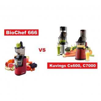 So sánh máy ép trái cây Biochef & Kuvings